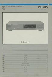 Philips FT 980 Bedienungsanleitung