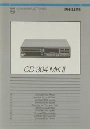Philips CD 304 MK II Bedienungsanleitung