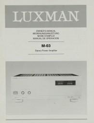 Luxman M-03 Bedienungsanleitung