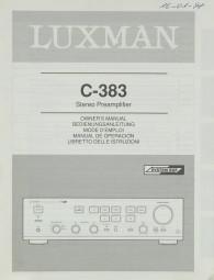 Luxman C-383 Bedienungsanleitung