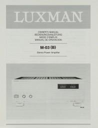 Luxman M-03 (B) Bedienungsanleitung