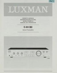 Luxman C-03 (B) Bedienungsanleitung