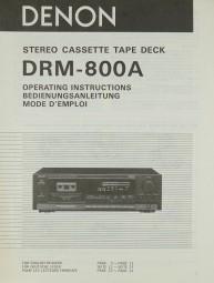 Denon DRM-800 A Bedienungsanleitung