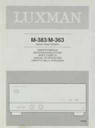 Luxman M-383 / M-363 Bedienungsanleitung