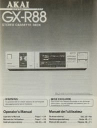 Akai GX-R 88 Bedienungsanleitung