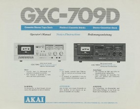 Akai GXC-709 D Bedienungsanleitung