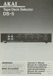 Akai DS-5 Bedienungsanleitung