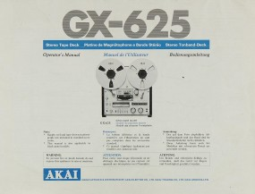 Akai GX-625 Bedienungsanleitung