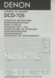 Denon DCD-725 Bedienungsanleitung