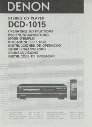 Denon DCD-1015 Bedienungsanleitung