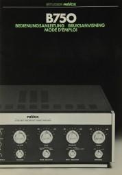 Revox B 750 Bedienungsanleitung