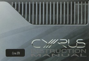 Mission / Cyrus XPA Bedienungsanleitung