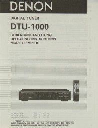 Denon DTU-1000 Bedienungsanleitung