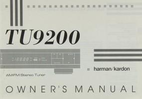 Harman / Kardon TU 9200 Bedienungsanleitung