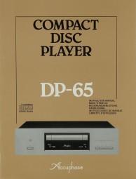 Accuphase DP-65 Bedienungsanleitung
