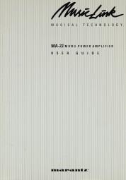 Marantz MA-22 Bedienungsanleitung