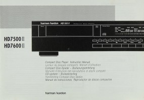 Harman / Kardon HD 7500 II, HD- II Bedienungsanleitung
