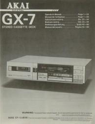 Akai GX-7 Bedienungsanleitung