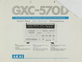 Akai GXC-570 D Bedienungsanleitung