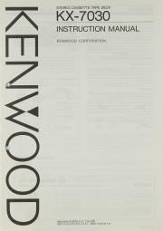 Kenwood KX-7030 Bedienungsanleitung