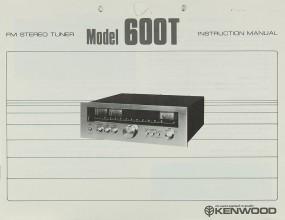 Kenwood 600 T Bedienungsanleitung