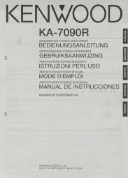 Kenwood KA-7090 R Bedienungsanleitung