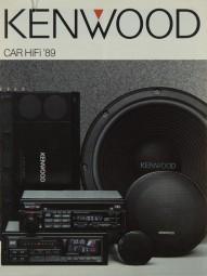 Kenwood Car-Hifi 1989 Prospekt / Katalog