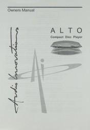 Audio Innovations Alto CD Player Bedienungsanleitung