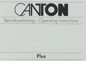 Canton Plus Bedienungsanleitung