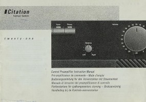 Harman / Kardon Citation 21 Bedienungsanleitung