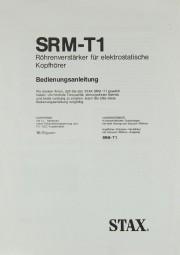 Stax SRM-T 1 Bedienungsanleitung