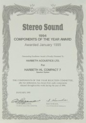 Harbeth HL Compact 7 Bedienungsanleitung