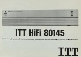 ITT 80145 Bedienungsanleitung