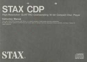 Stax CDP Bedienungsanleitung