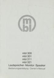 MBL mbl 300 / 301 / 311 / 321 Bedienungsanleitung