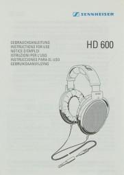 Sennheiser HD 600 Bedienungsanleitung