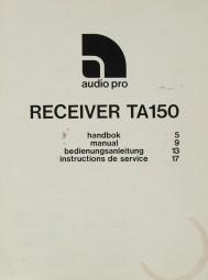 Audio Pro TA 150 Bedienungsanleitung