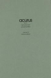 Acurus RL 11 Bedienungsanleitung