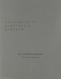 Counterpoint DA-11 Bedienungsanleitung