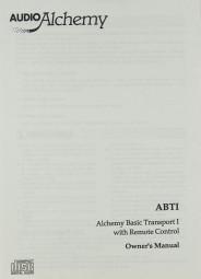 Audio Alchemy ABT I Bedienungsanleitung