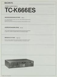 Sony TC-K 666 ES Bedienungsanleitung