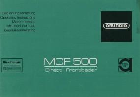 Grundig MCF 500 Bedienungsanleitung