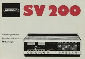 Grundig SV 200 Bedienungsanleitung