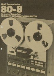 Teac 80-8 Prospekt / Katalog