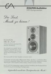 Écouton MRL 80 Plus Prospekt / Katalog