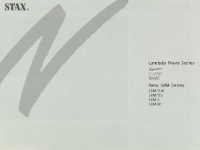 Stax Lambda Nova Series / New SRM Series Prospekt / Katalog