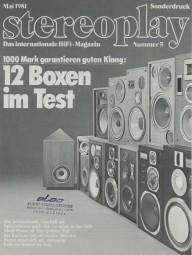 Stereoplay Sonderdruck Mai 1981 Testnachdruck