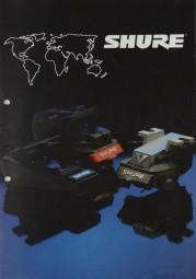 Shure Tonabnehmer Prospekt / Katalog