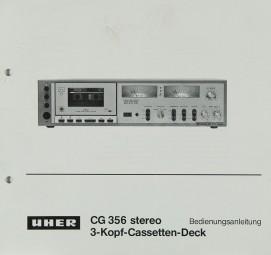 Uher CG 356 Bedienungsanleitung