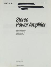 Sony TA-N 80 ES Bedienungsanleitung